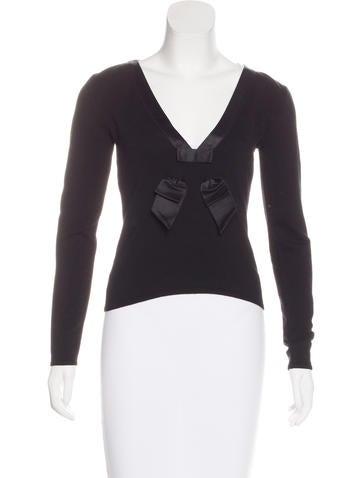 Valentino Virgin Wool Long Sleeve Top None