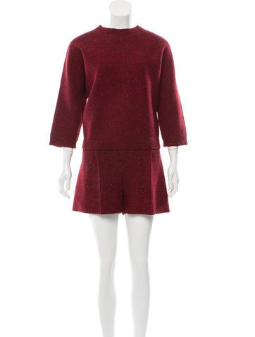 Valentino Wool Knit Romper None