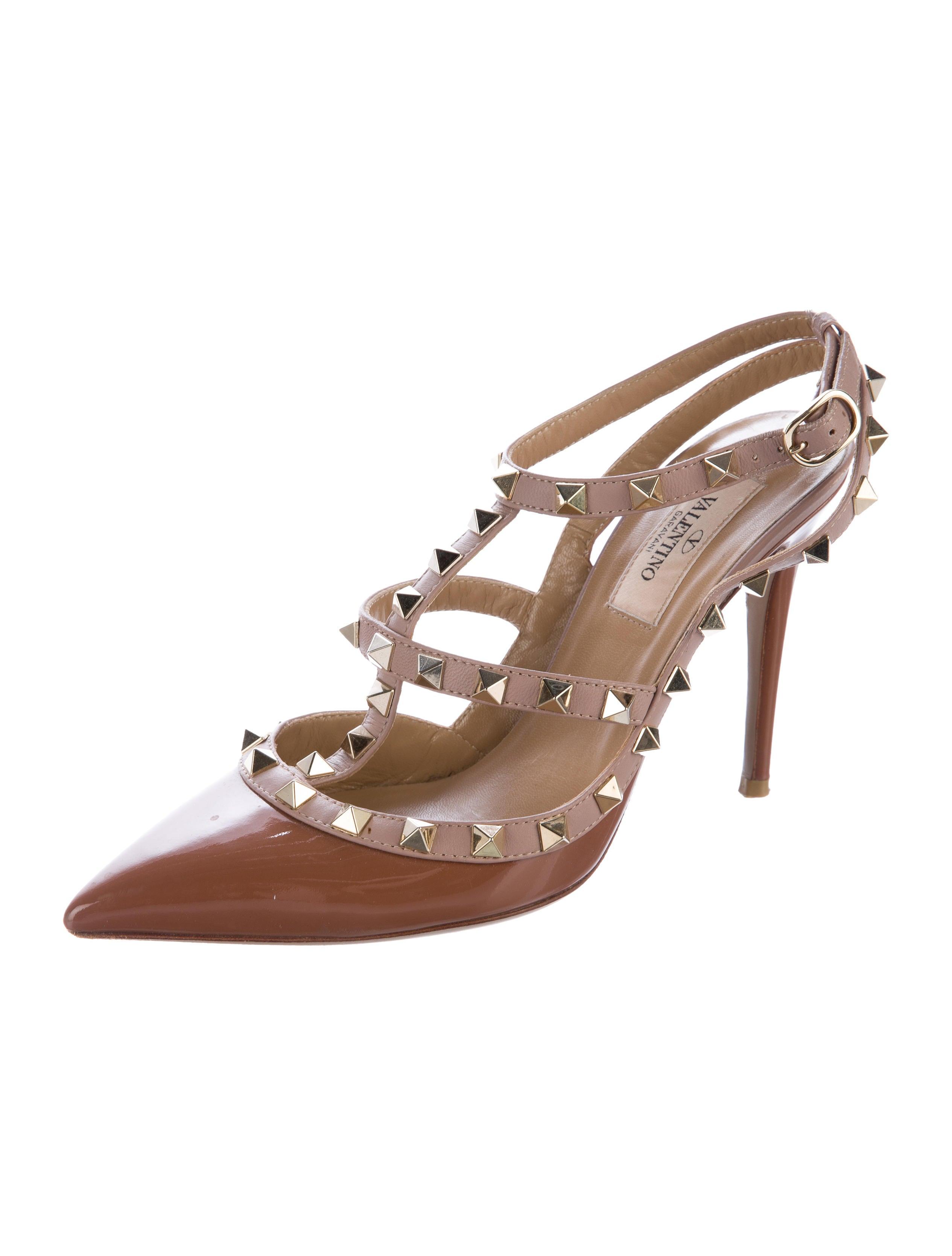 valentino rockstud ankle strap pumps shoes val65500. Black Bedroom Furniture Sets. Home Design Ideas