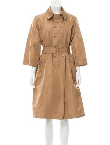 Valentino Silk Trench Coat None