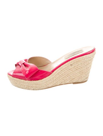 Valentino Bow Slide Wedges None