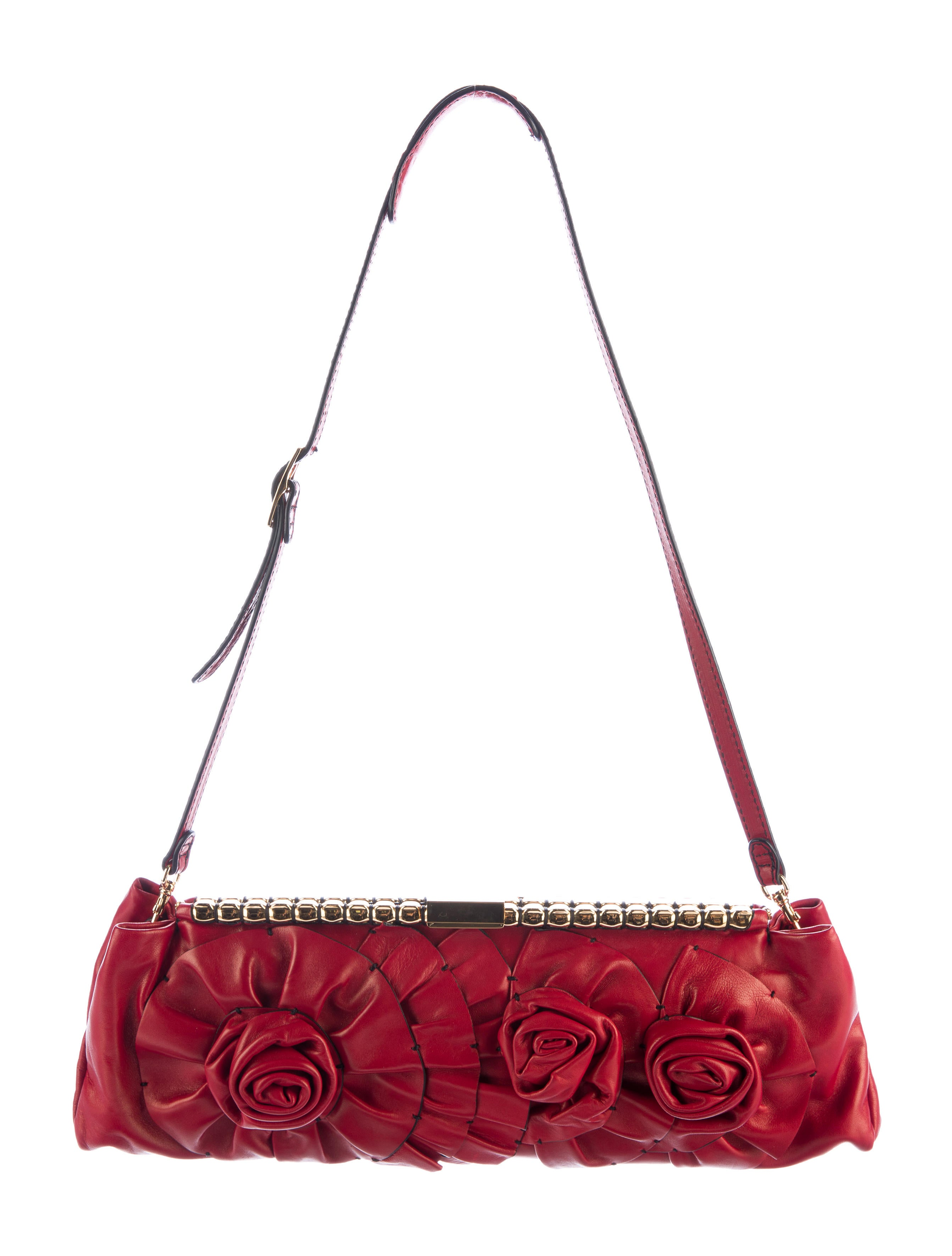 Valentino Floral Appliquu00e9 Shoulder Bag - Handbags - VAL65602 | The RealReal