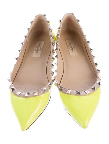Valentino Neon Rockstud Flats Shoes VAL #0: VAL 3 product