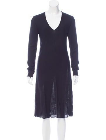 Valentino Wool Midi Dress w/ Tags None