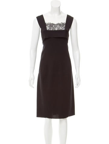 Valentino Wool Midi Dress None