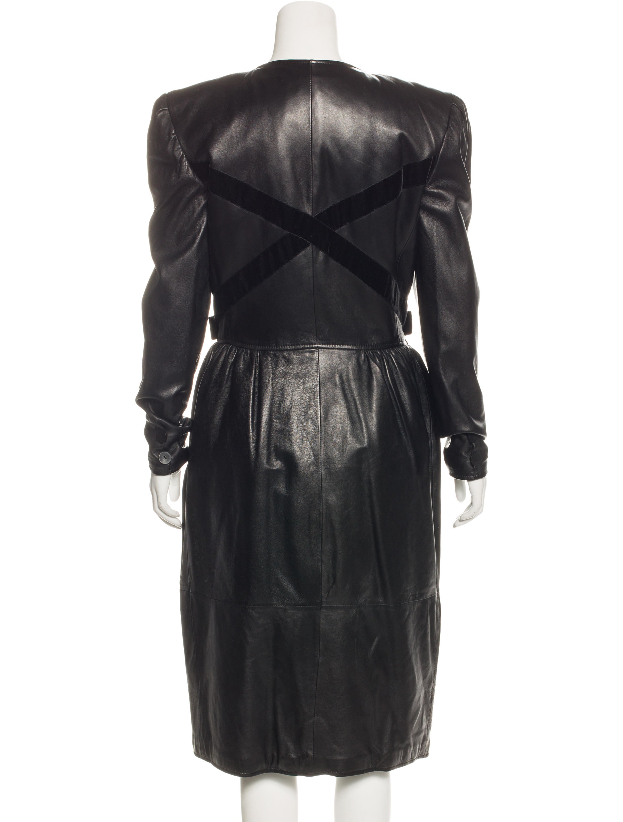 valentino vintage leather coat clothing val65782 the