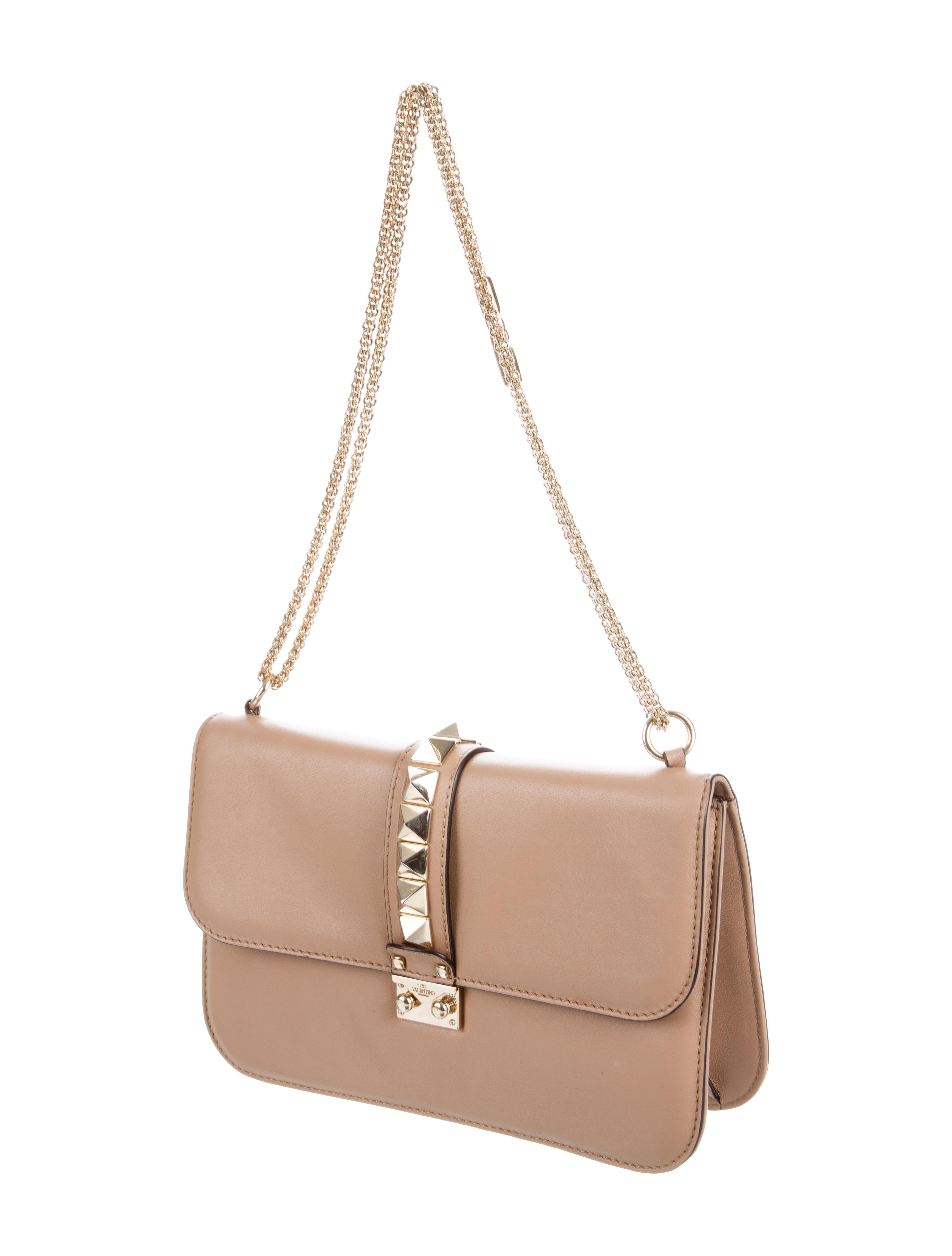 valentino medium glam lock bag handbags val65820 the realreal. Black Bedroom Furniture Sets. Home Design Ideas