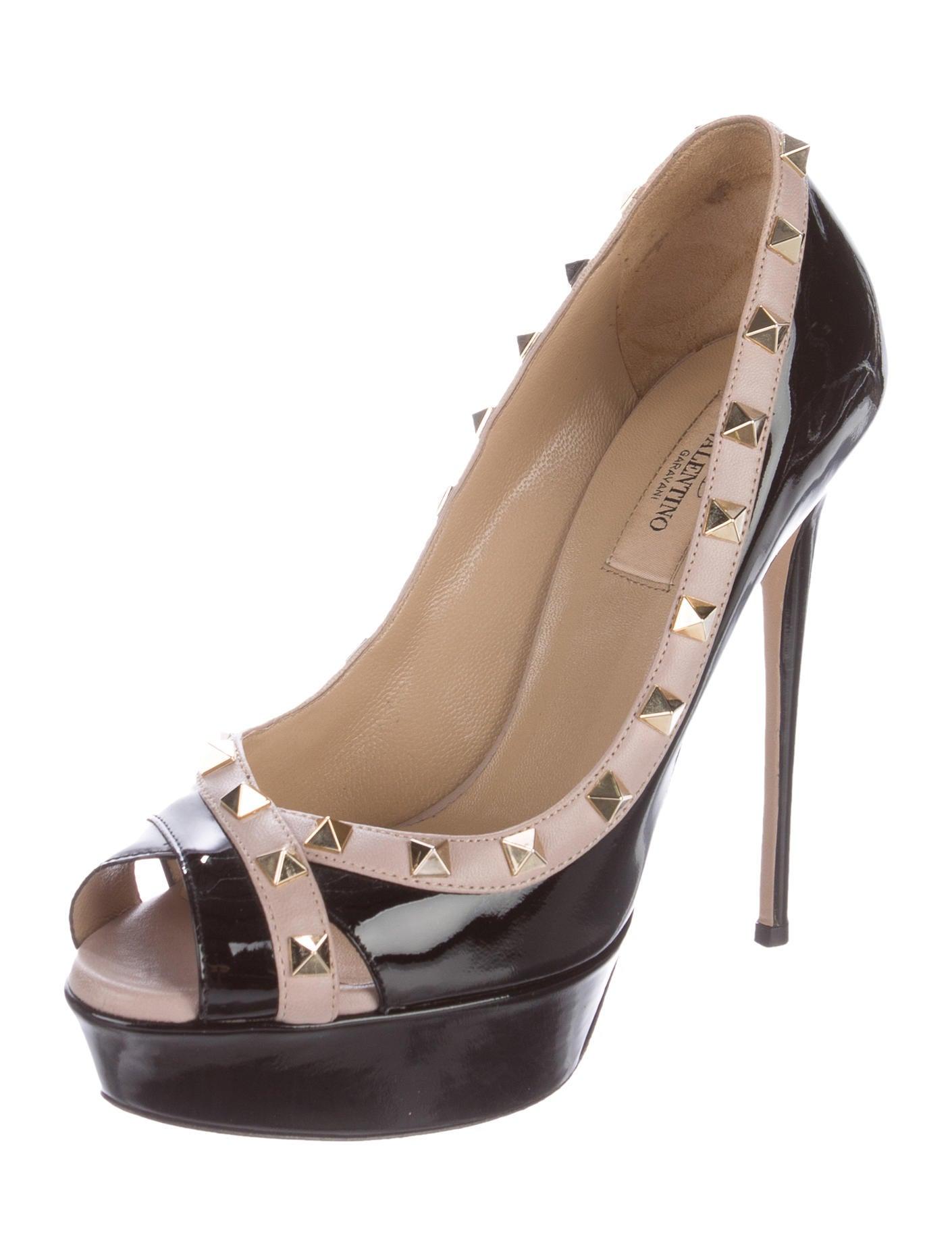 valentino rockstud platform pumps shoes val65902 the. Black Bedroom Furniture Sets. Home Design Ideas