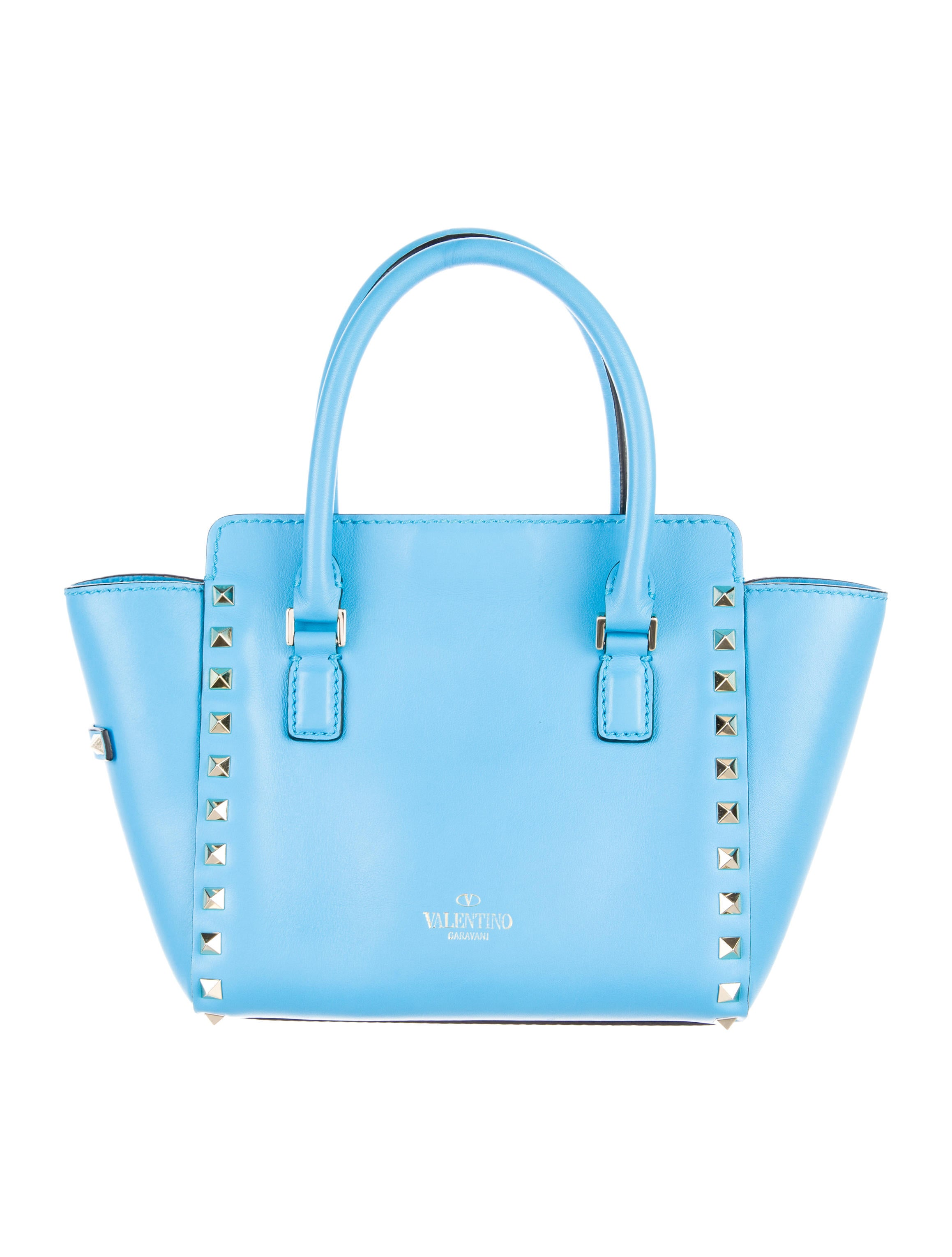 Valentino Mini Rockstud Double Handle Tote - Handbags - VAL65949 : The RealReal