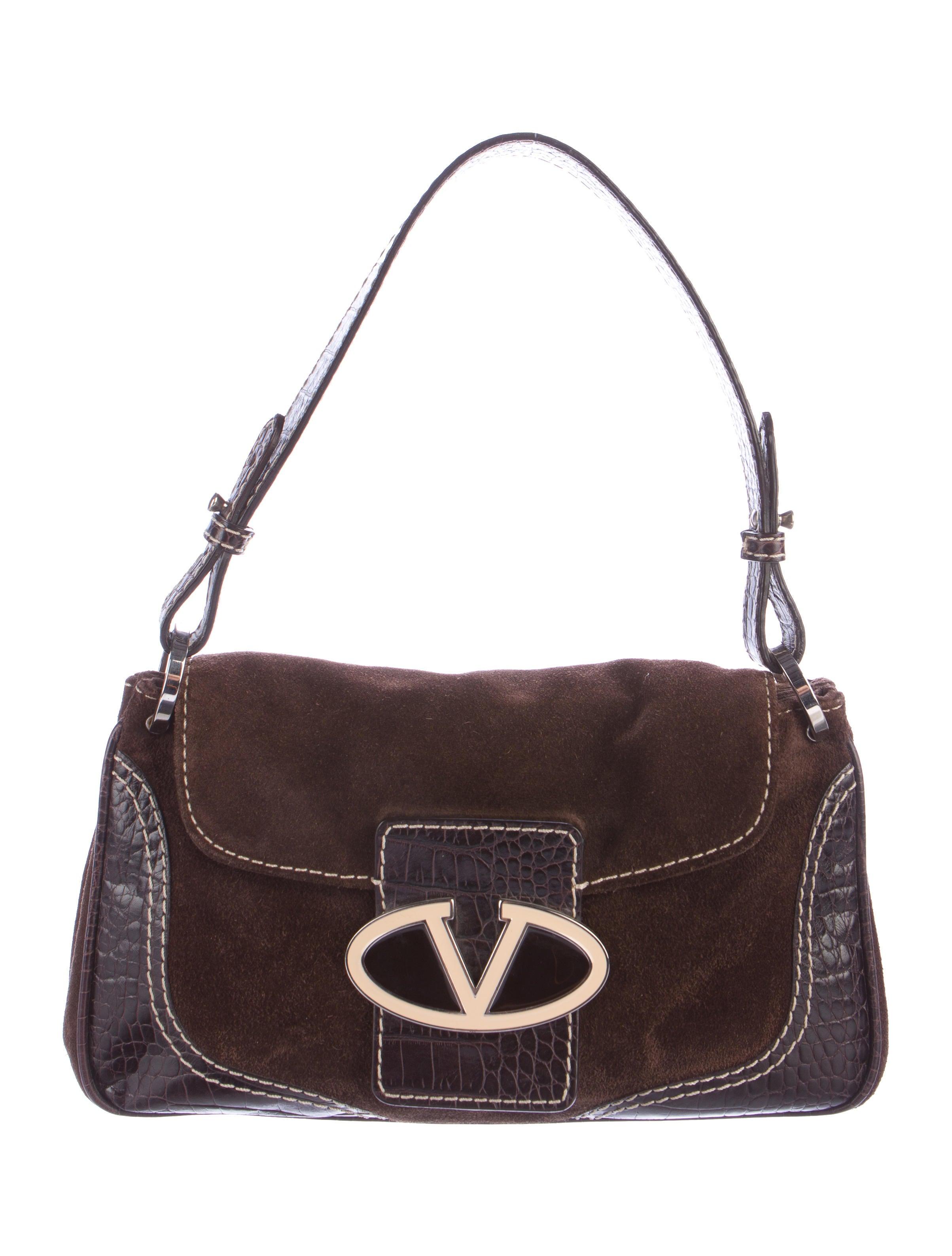 valentino suede shoulder bag handbags val66008 the
