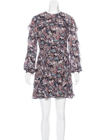 Valentino Silk Japanese Butterfly Print Dress None