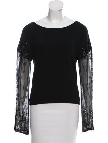 Valentino Cashmere Embellished Sweater None