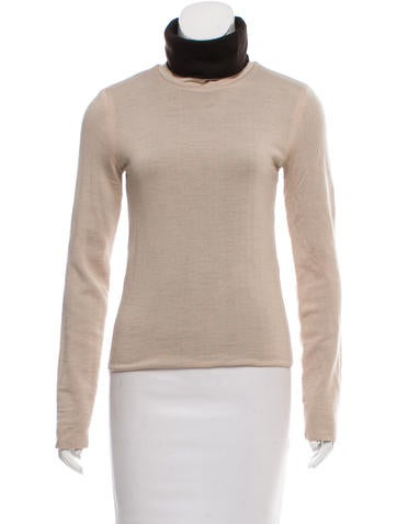 Valentino Long Sleeve Wool Turtleneck None