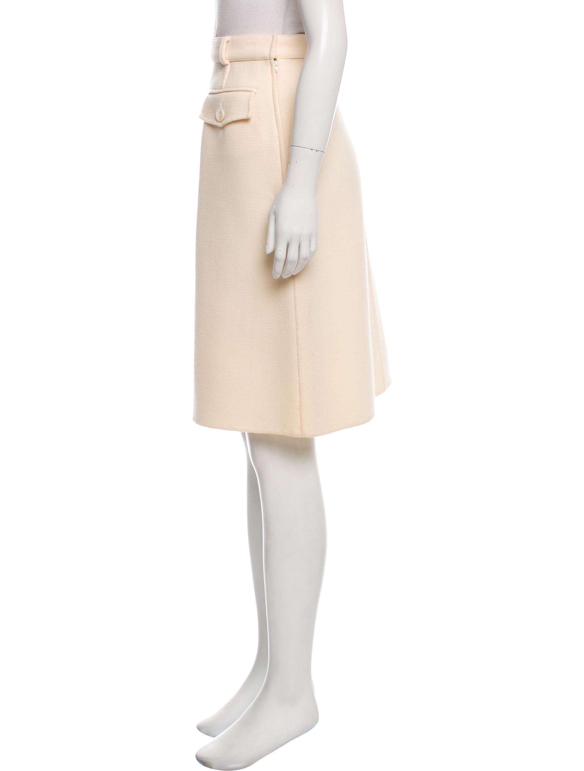 valentino knee length wool skirt clothing val66378