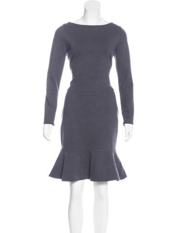 Valentino Long Sleeve Flared Dress None