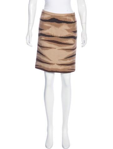 Valentino Pencil Mini Skirt None