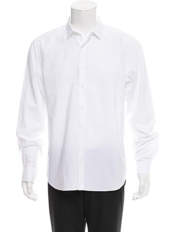 Valentino Long Sleeve Button-Up Shirt None