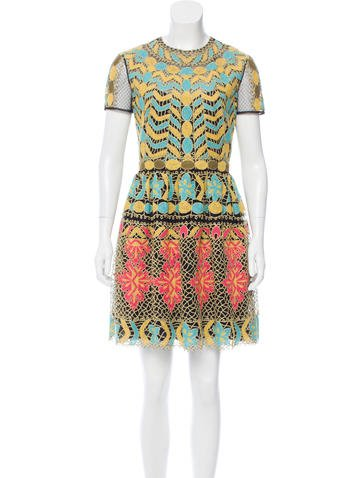 Valentino Embroidered Mesh Dress None