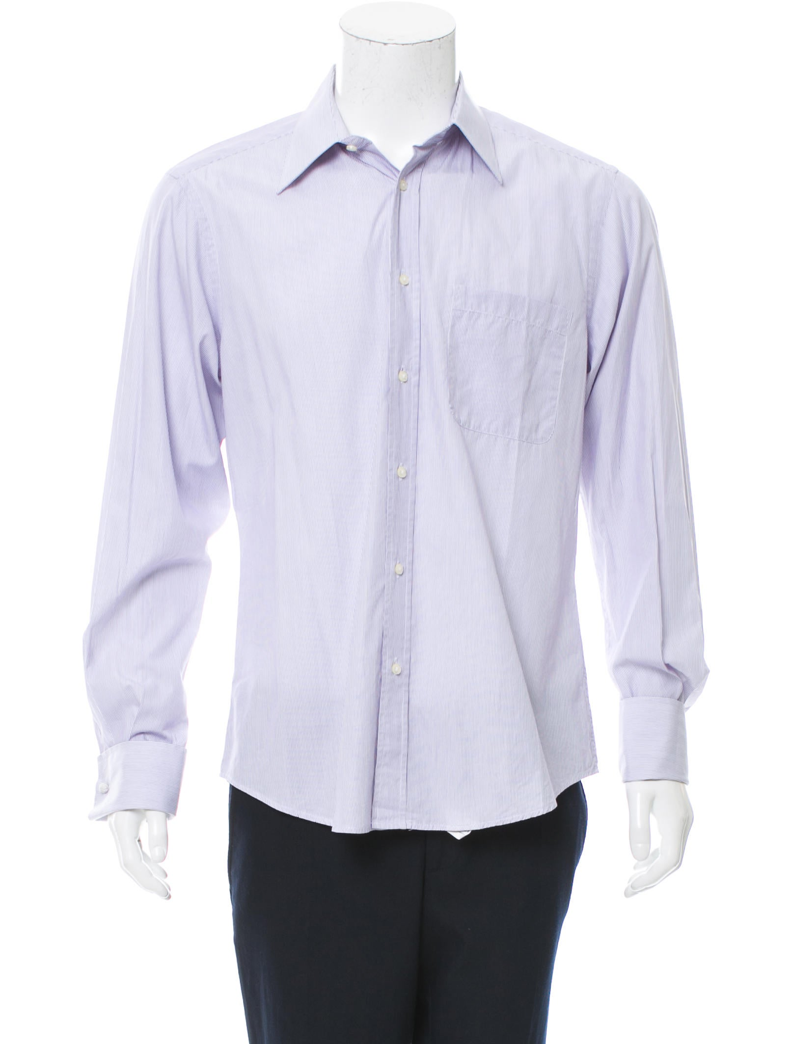 Valentino striped button up shirt clothing val66823 for Striped button up shirt mens