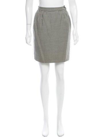 Valentino Houndstooth Mini Skirt None