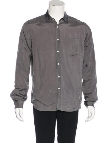 Valentino Satin Button-Up Shirt w/ Tags None