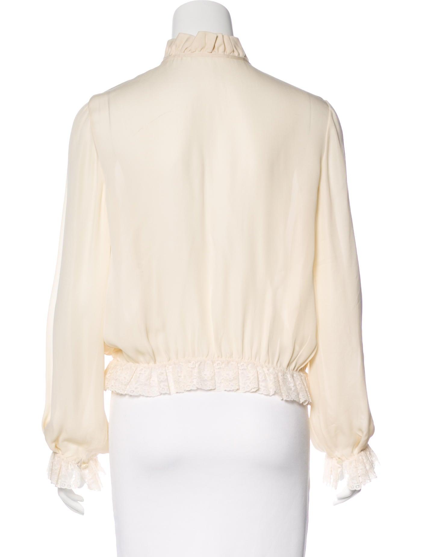 Valentino Vintage Silk Blouse - Clothing