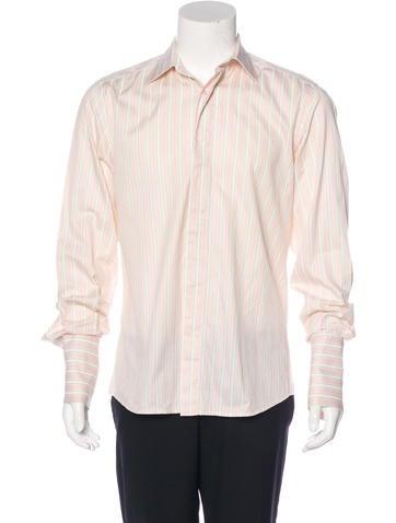 Valentino Striped French Cuff Shirt None