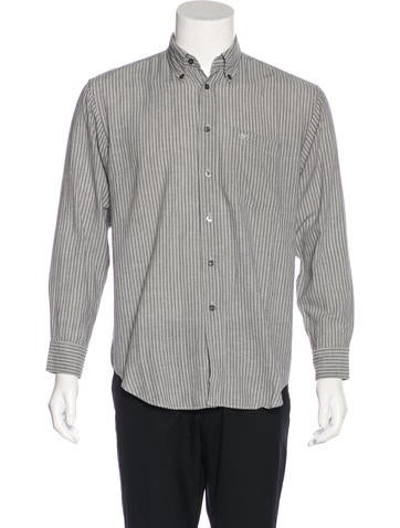 Valentino Embroidered Striped Shirt None