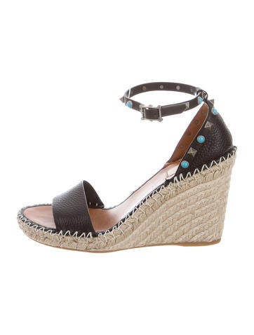 Valentino Rolling Rockstud Espadrille Wedges w/ Tags None