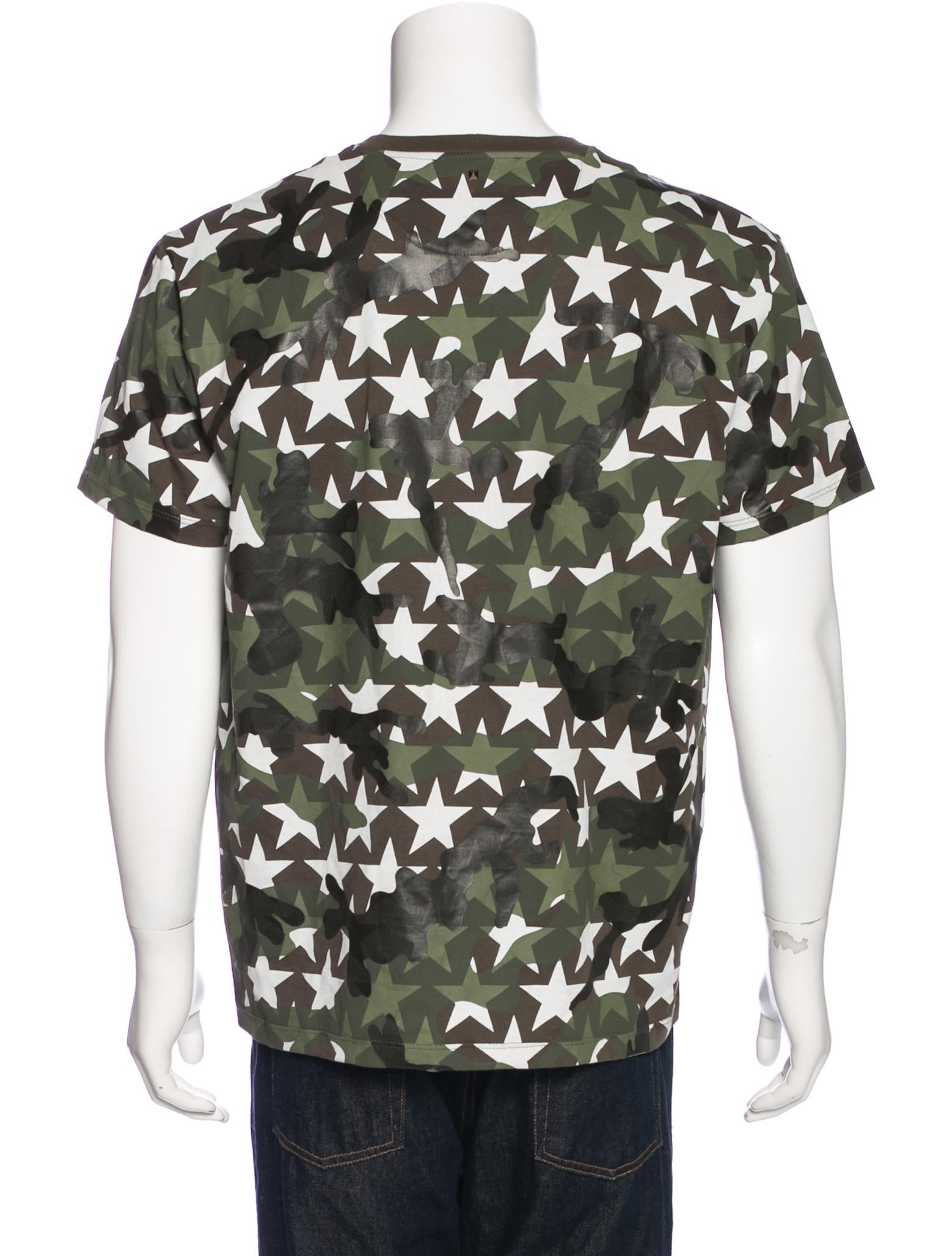 Valentino camouflage star print t shirt w tags clothing for Camouflage t shirt printing