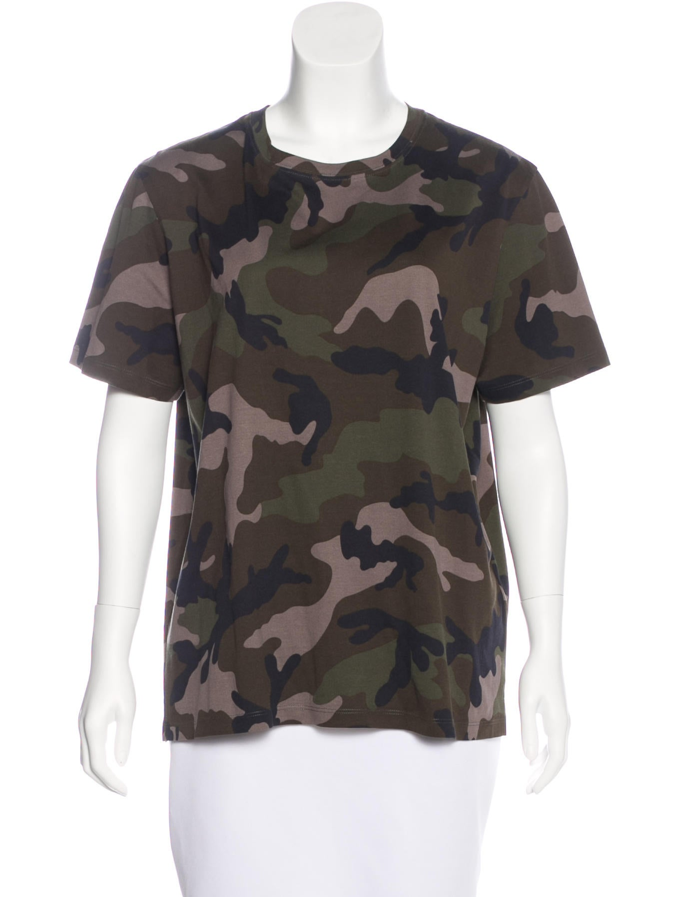 valentino camouflage print t shirt clothing val67493