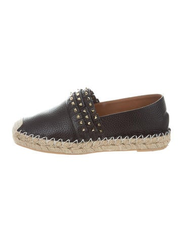 Valentino Studded Leather Espadrilles None