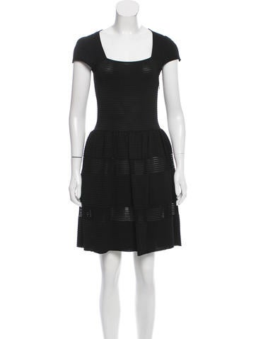 Valentino Knit A-line Mini Dress None