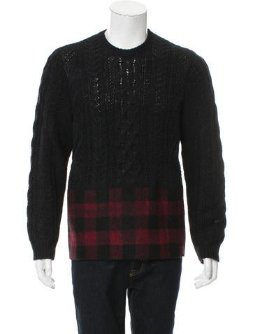 Valentino Wool & Alpaca-Blend Sweater None