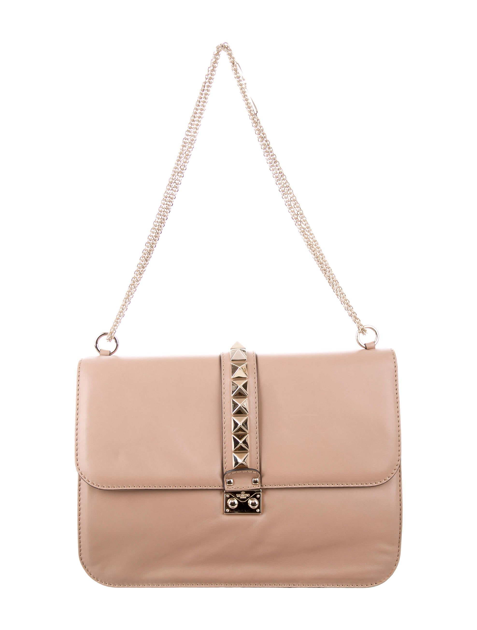 valentino medium glam lock bag handbags val67876 the realreal. Black Bedroom Furniture Sets. Home Design Ideas
