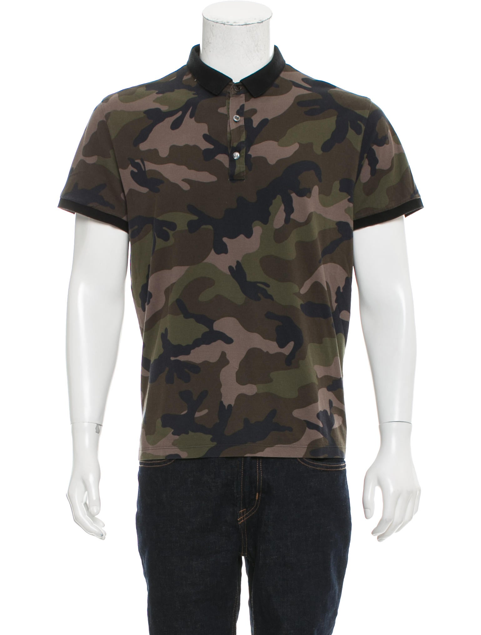 Valentino camouflage polo shirt clothing val67889 for Camo polo shirts for men