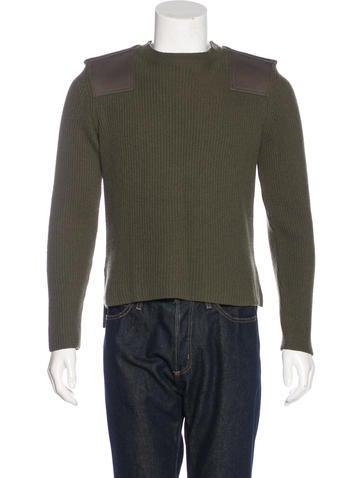 Valentino Wool-Blend Rib Knit Sweater None