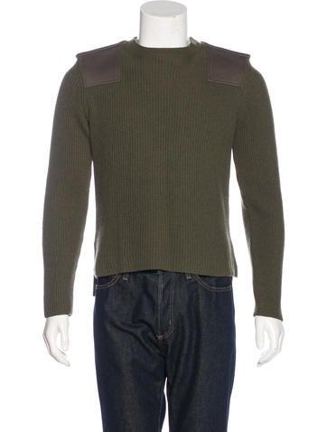Valentino Wool-Blend Rib Knit Sweater None