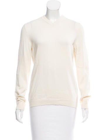 Valentino Long Sleeve Cashmere Sweater None