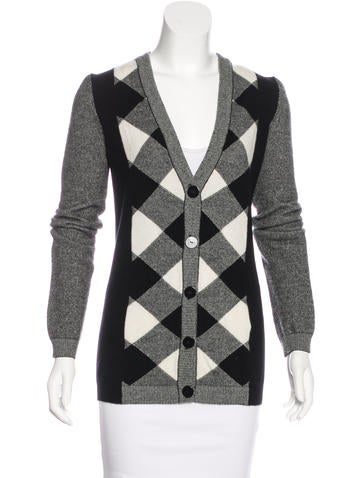 Valentino Wool & Cashmere-Blend Knit Cardigan None