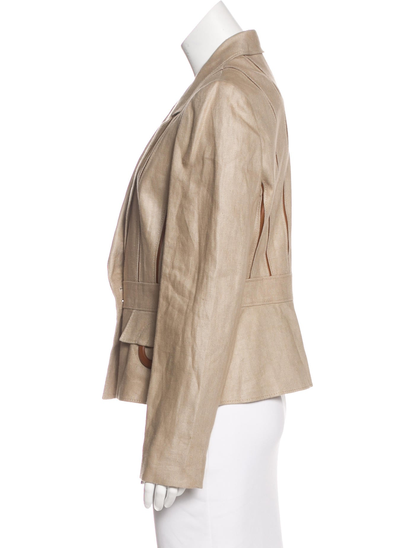 valentino vintage linen blazer clothing val69098 the