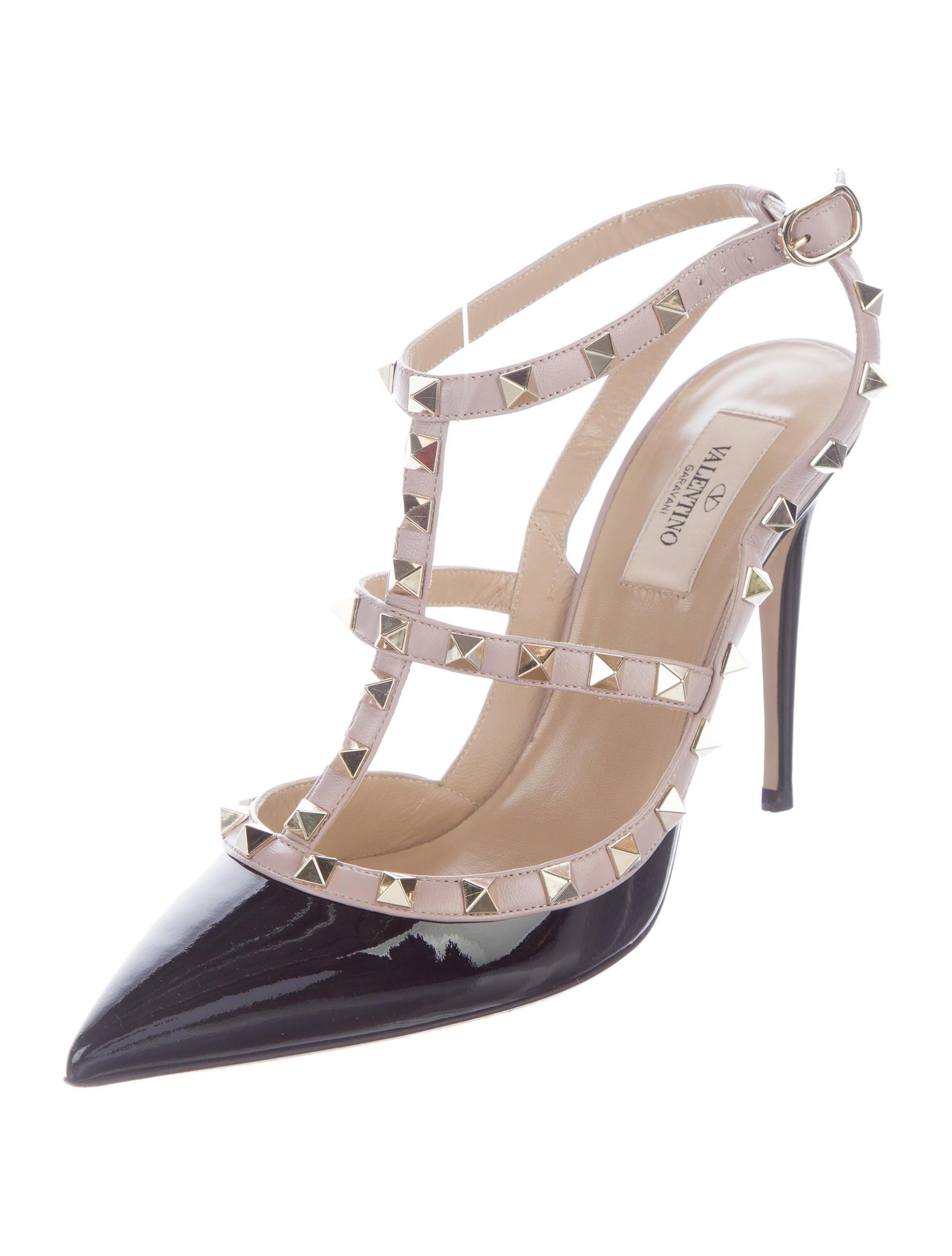valentino rockstud ankle strap pumps shoes val69312. Black Bedroom Furniture Sets. Home Design Ideas