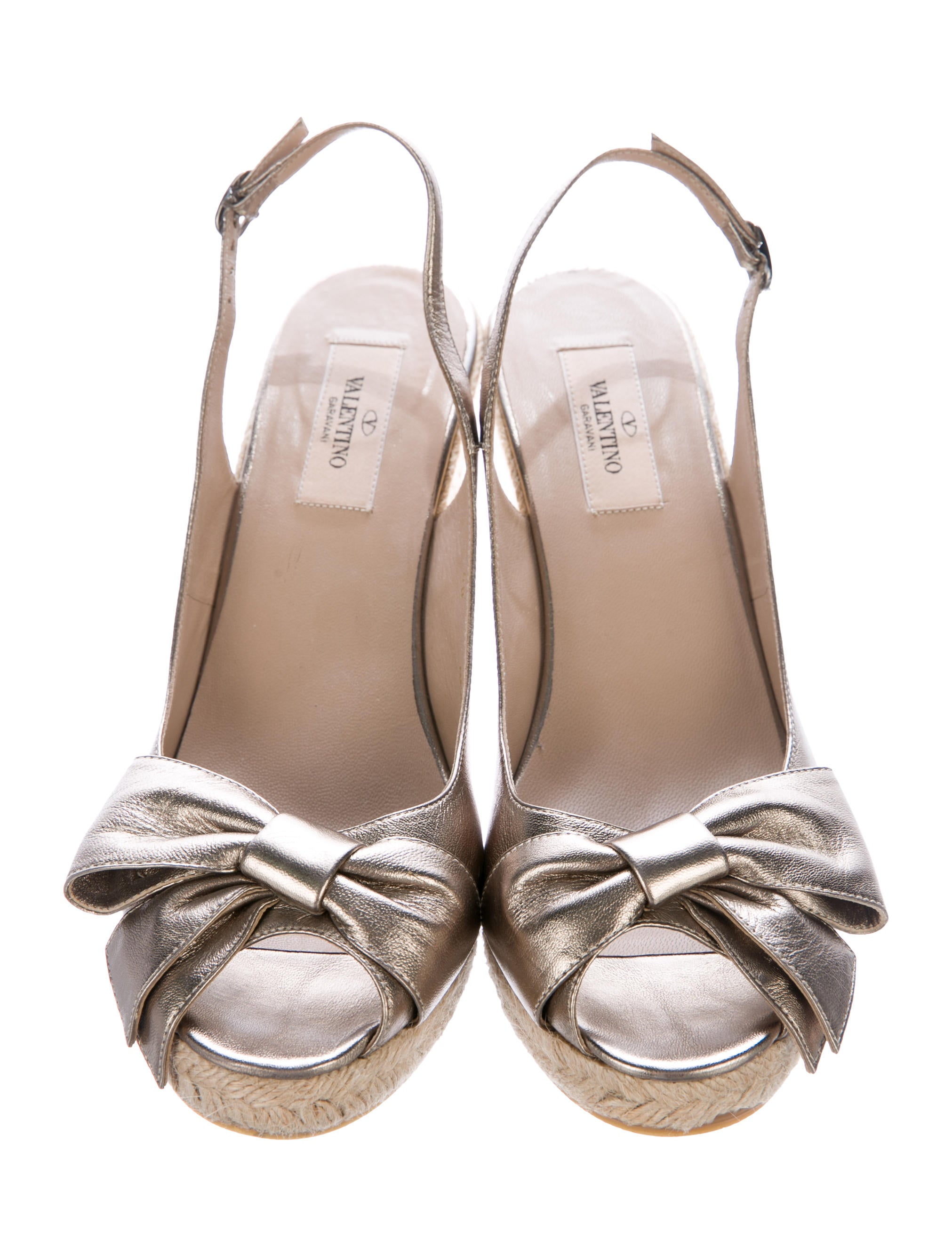 Valentino Metallic Bow-Accented Espadrilles really cheap free shipping pay with paypal buy cheap the cheapest bD0VTV