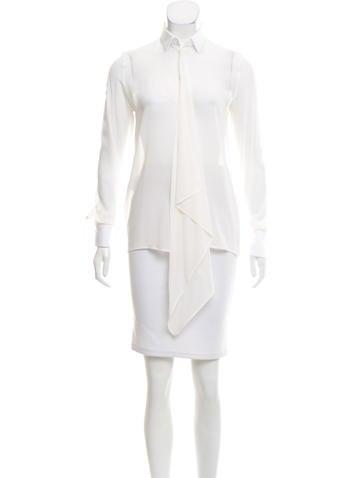 Valentino Long Sleeve Silk Blouse None