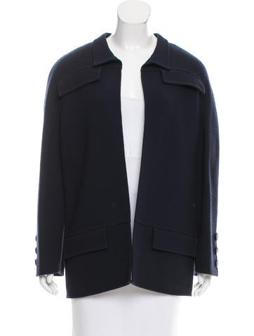 Valentino Open-Front Wool Jacket None
