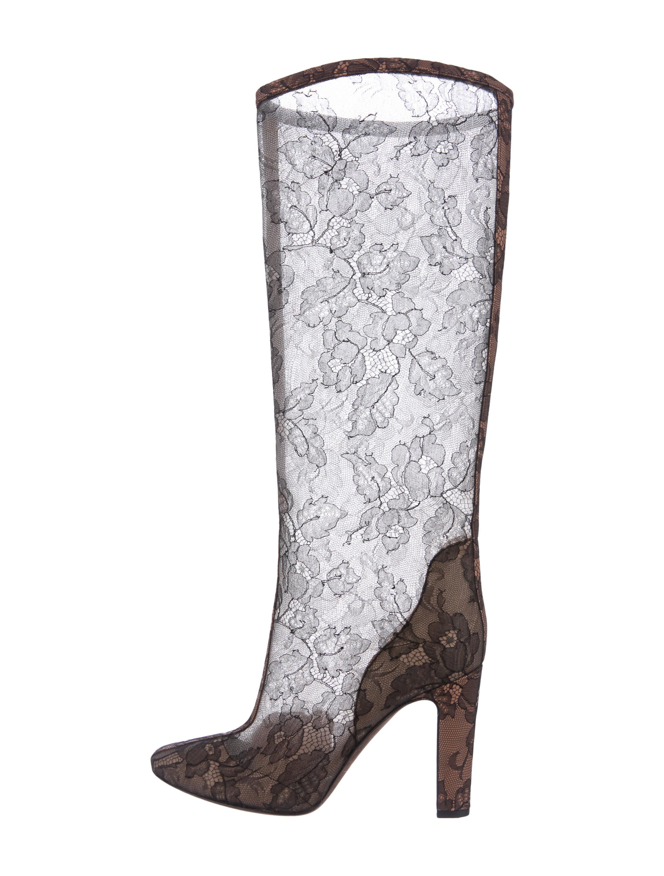 valentino lace knee high boots shoes val69789 the
