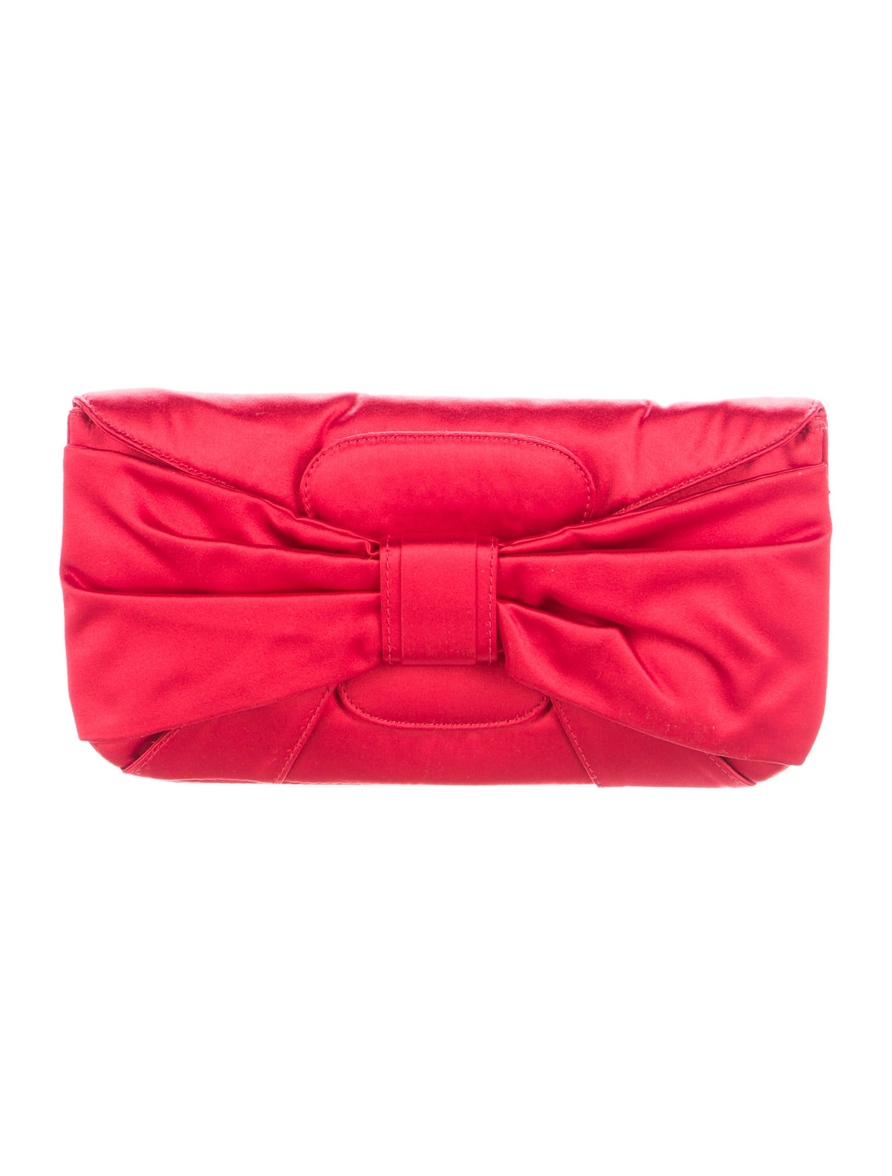 Valentino Satin Bow Clutch - Handbags - VAL69945 | The RealReal