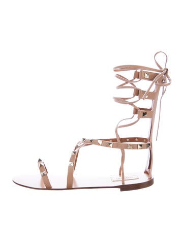 Valentino Rockstud Gladiator Sandals None
