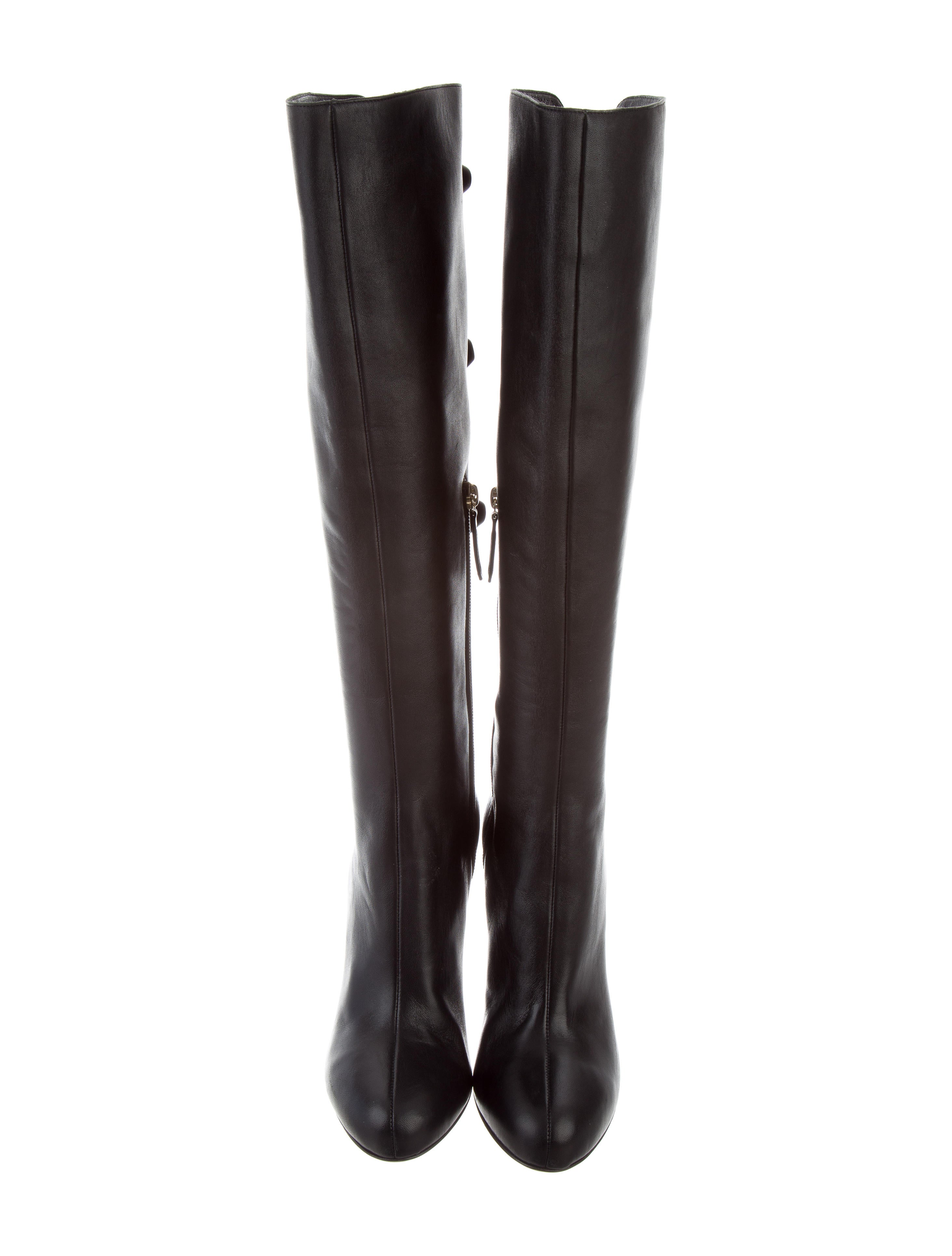 valentino knee high bow boots shoes val70046 the