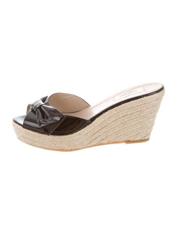 Valentino Bow Espadrille Wedges None